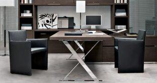 میز اداری چوبی فلزی